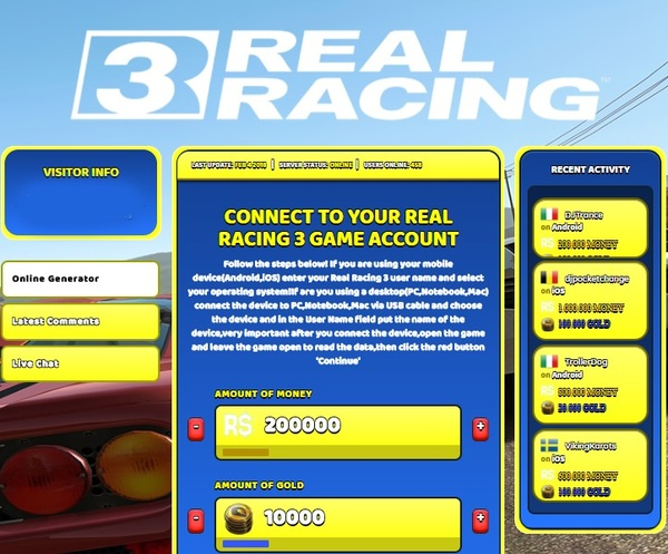 Real Racing 3 android hack