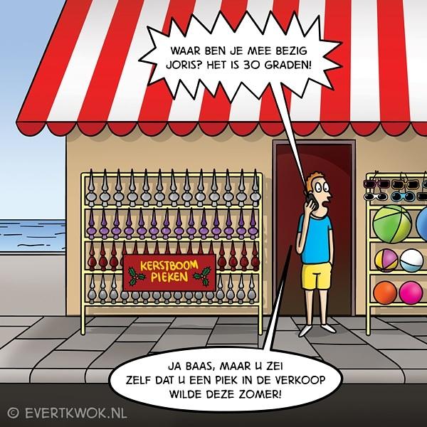 Joris is er al maanden klaar voor 🌞 Fijne Feestdagen! #cartoon