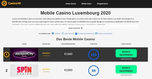 Mobiles Casino in Luxemburg