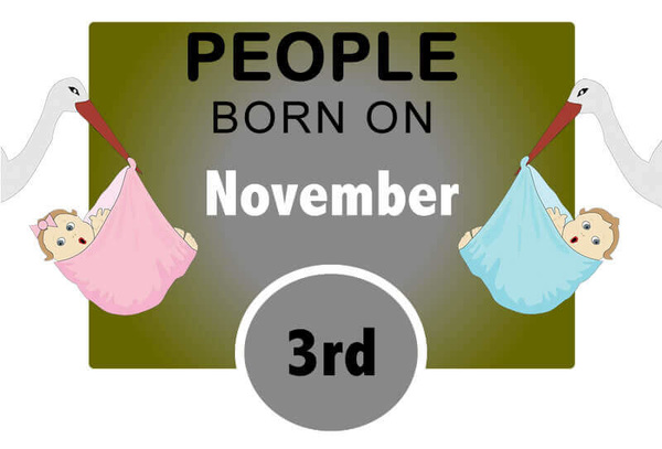 Numerological Personality Traits of People Born on November 3rd