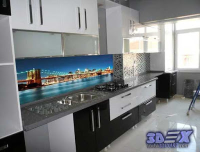 3D backsplash panel - the best solution for kitchen